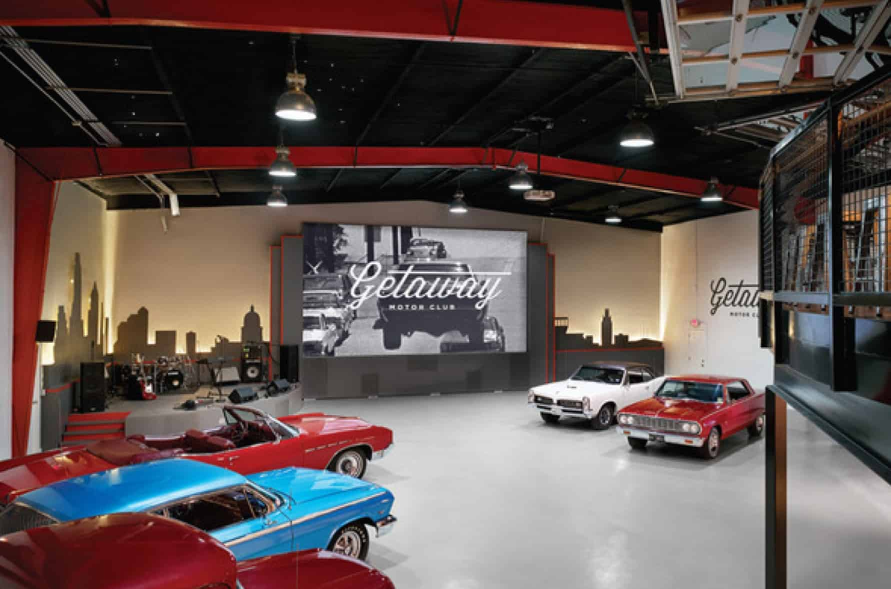 Vntage car museum event space
