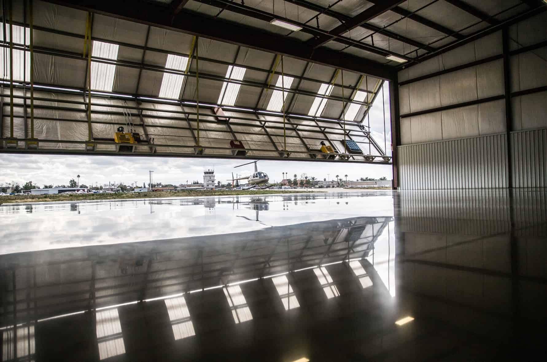 Unusual venues: airport hangar