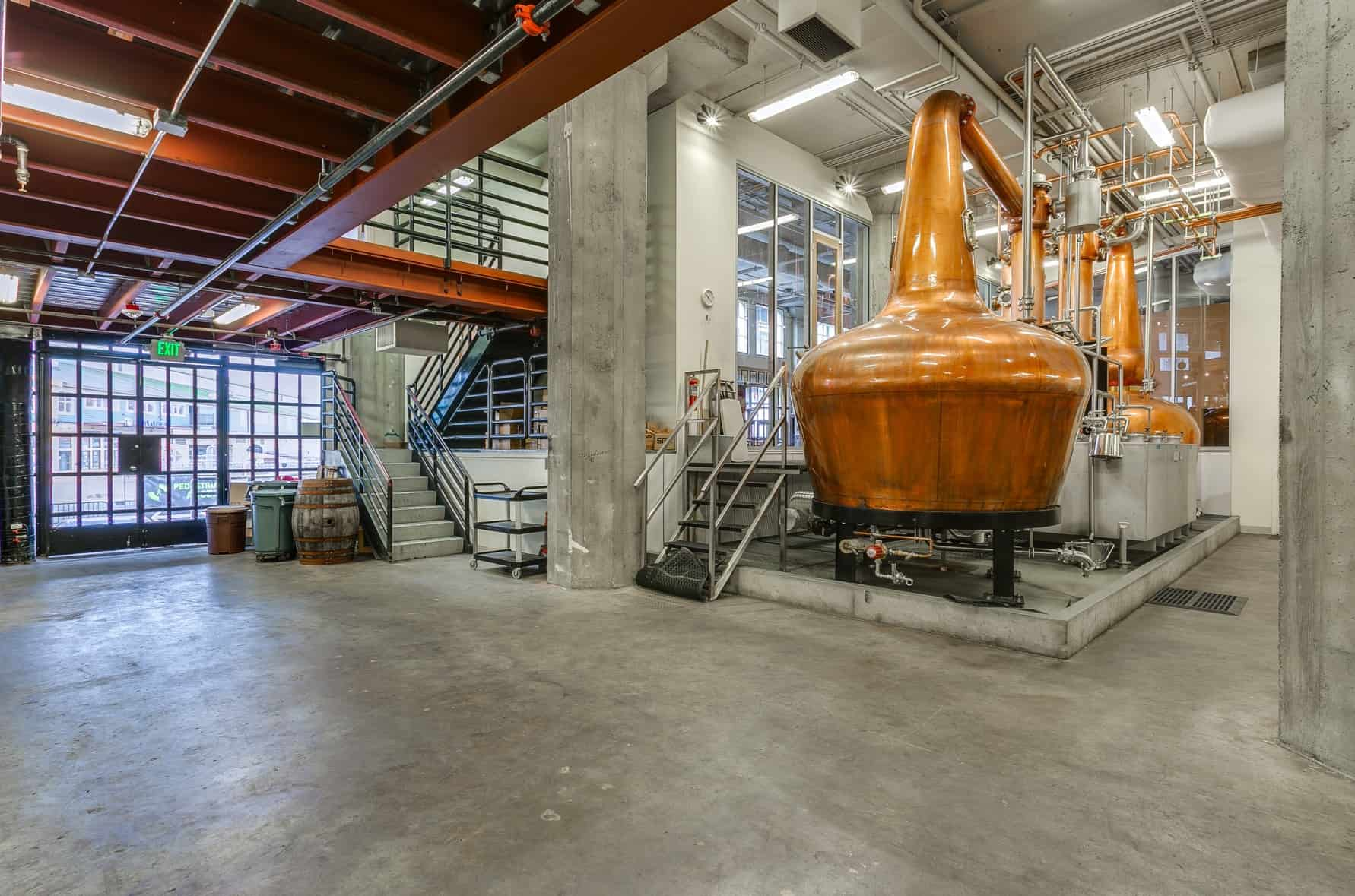 Urban distillery event space