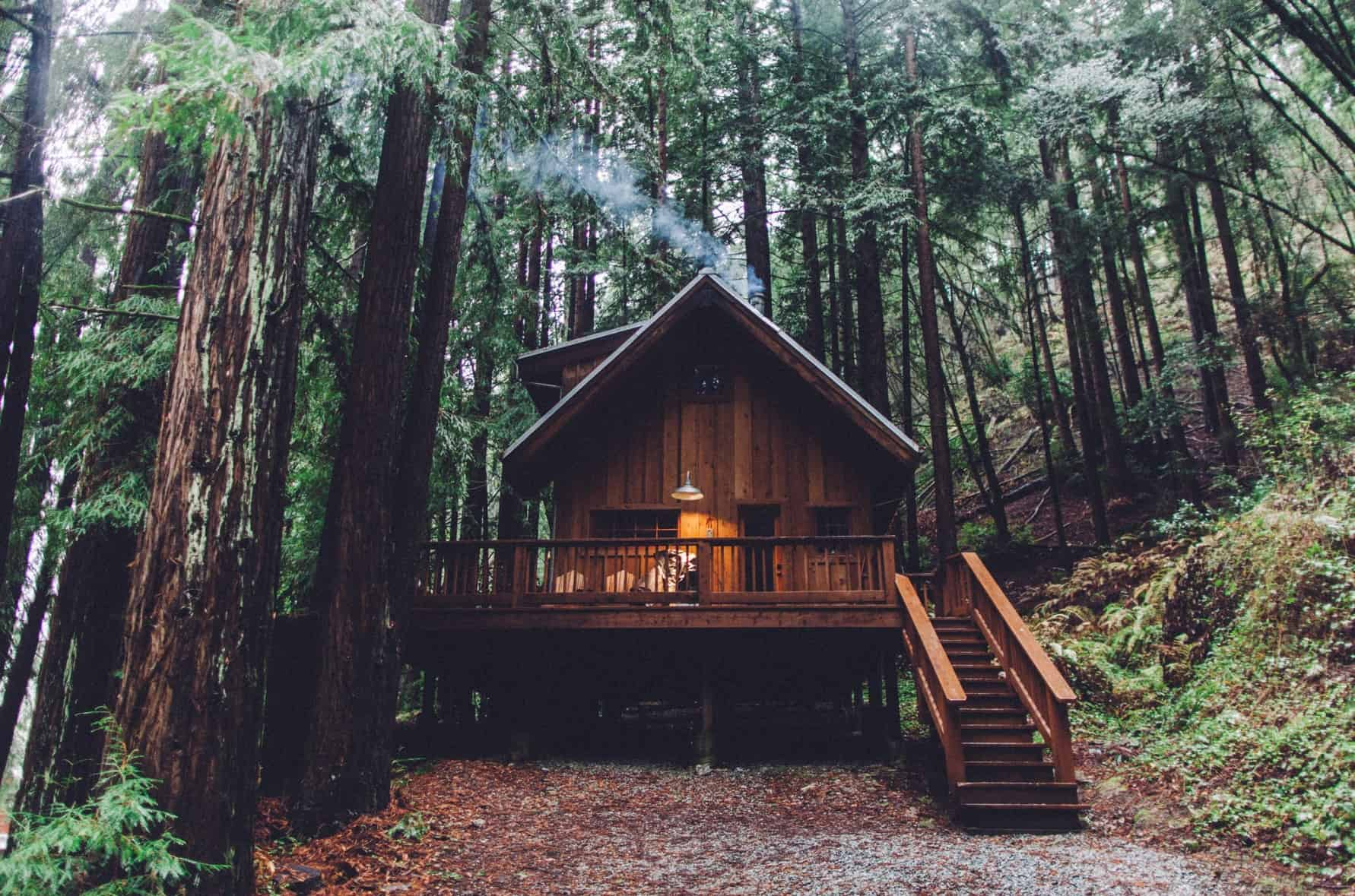 Unusual venues: Redwood cabin