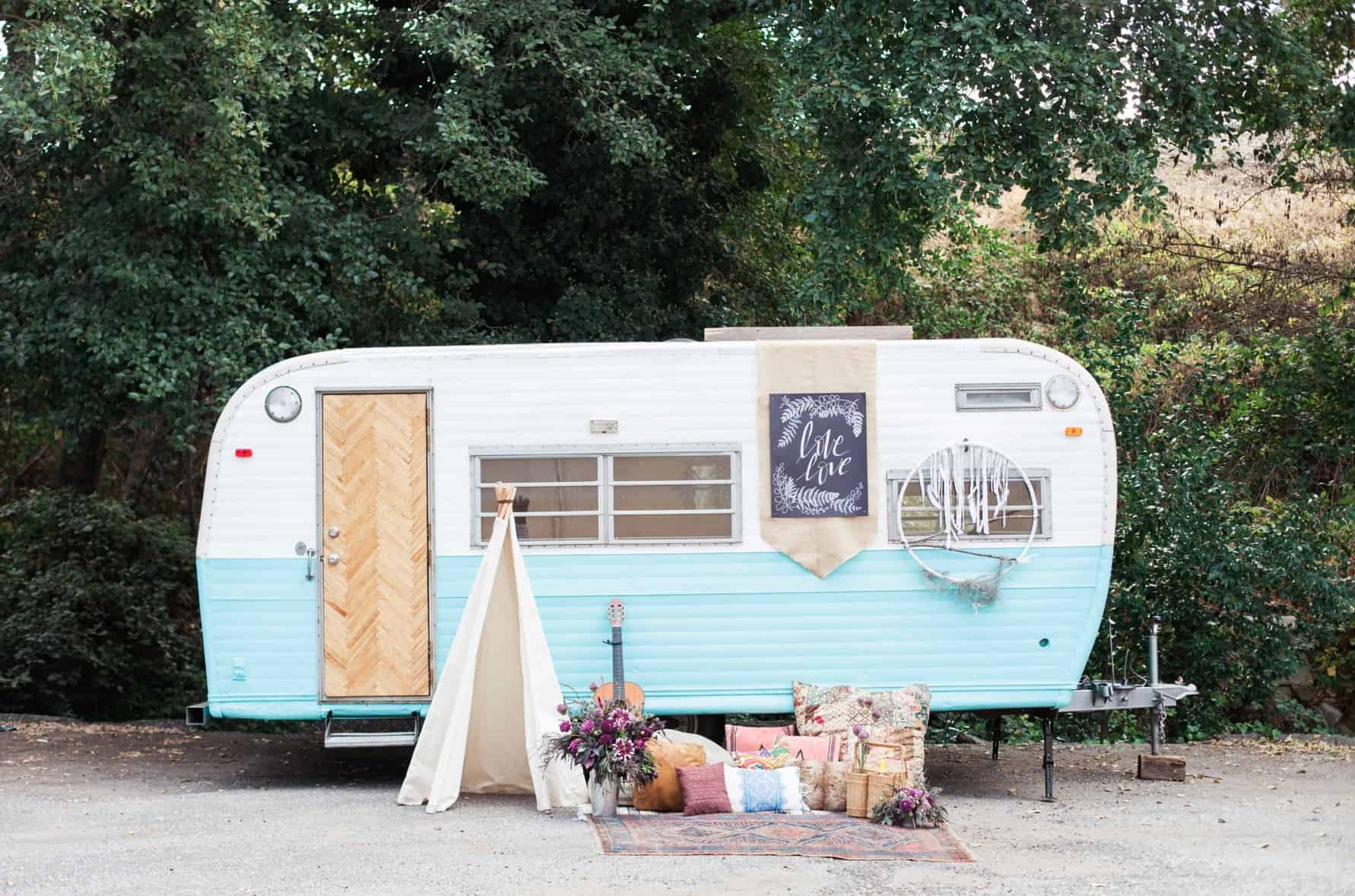 Unusual venues: Vintage trailer