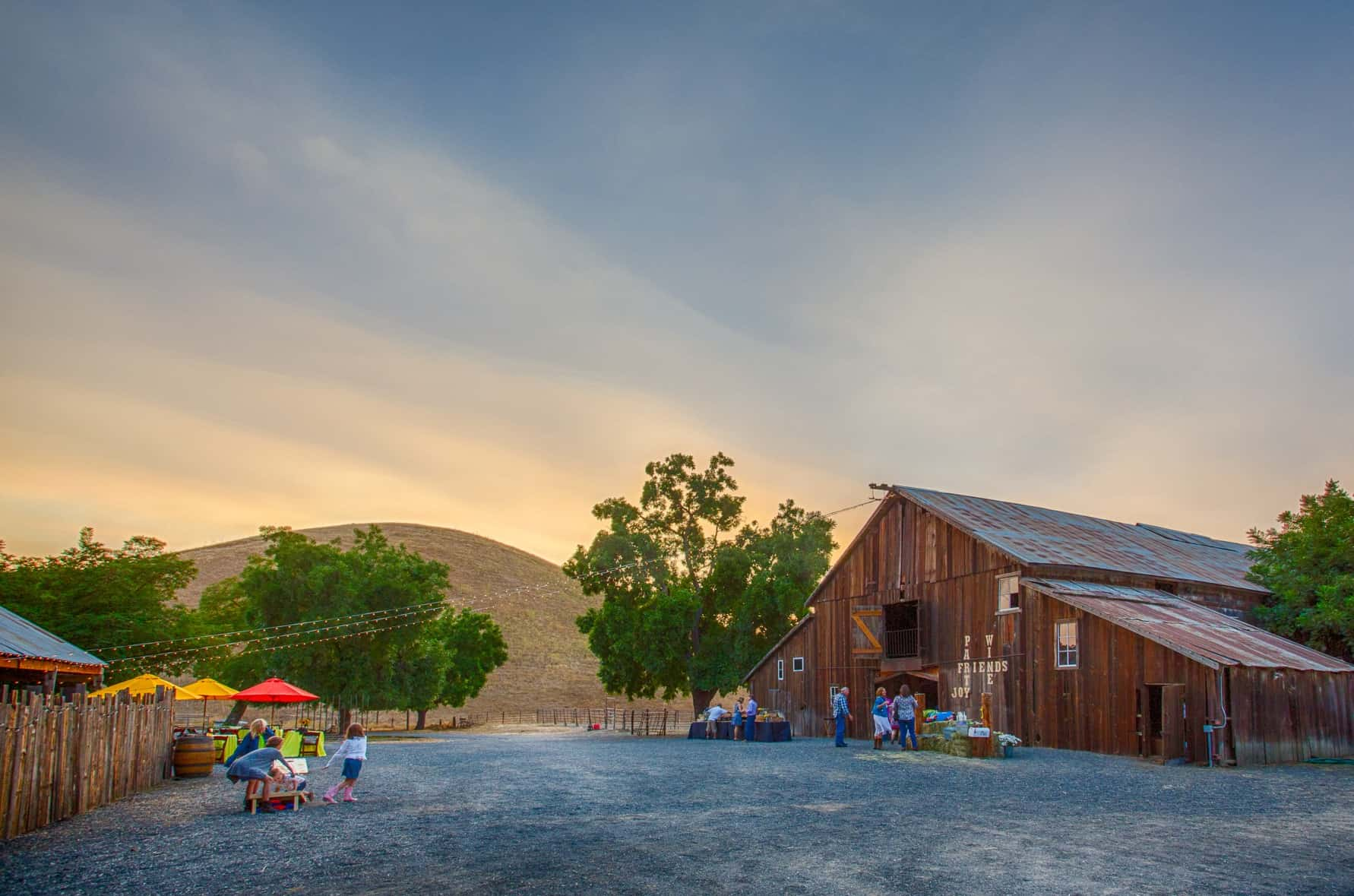 Unusual event location: rustic barn