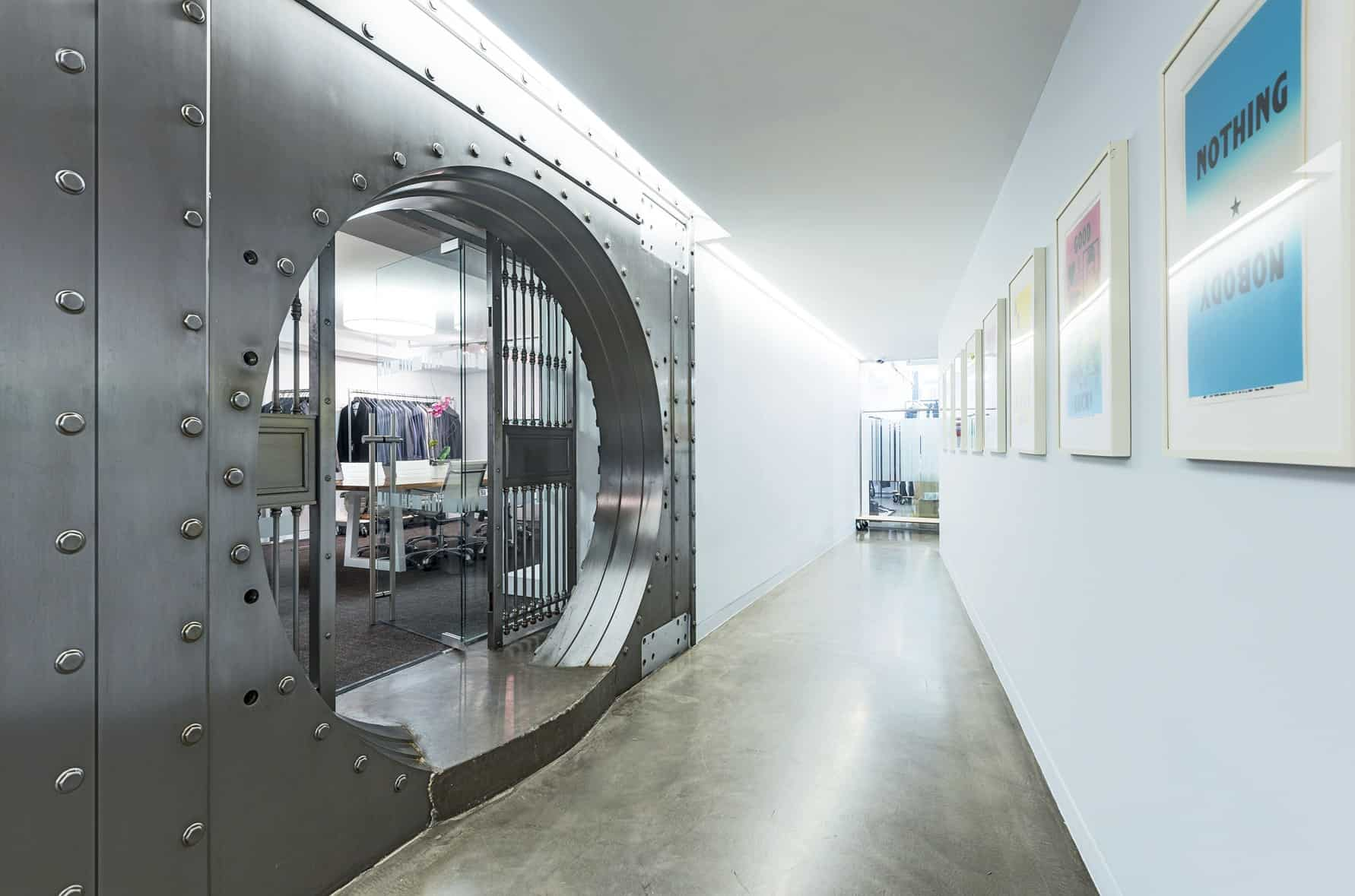 Unusual meeting space: bank vault