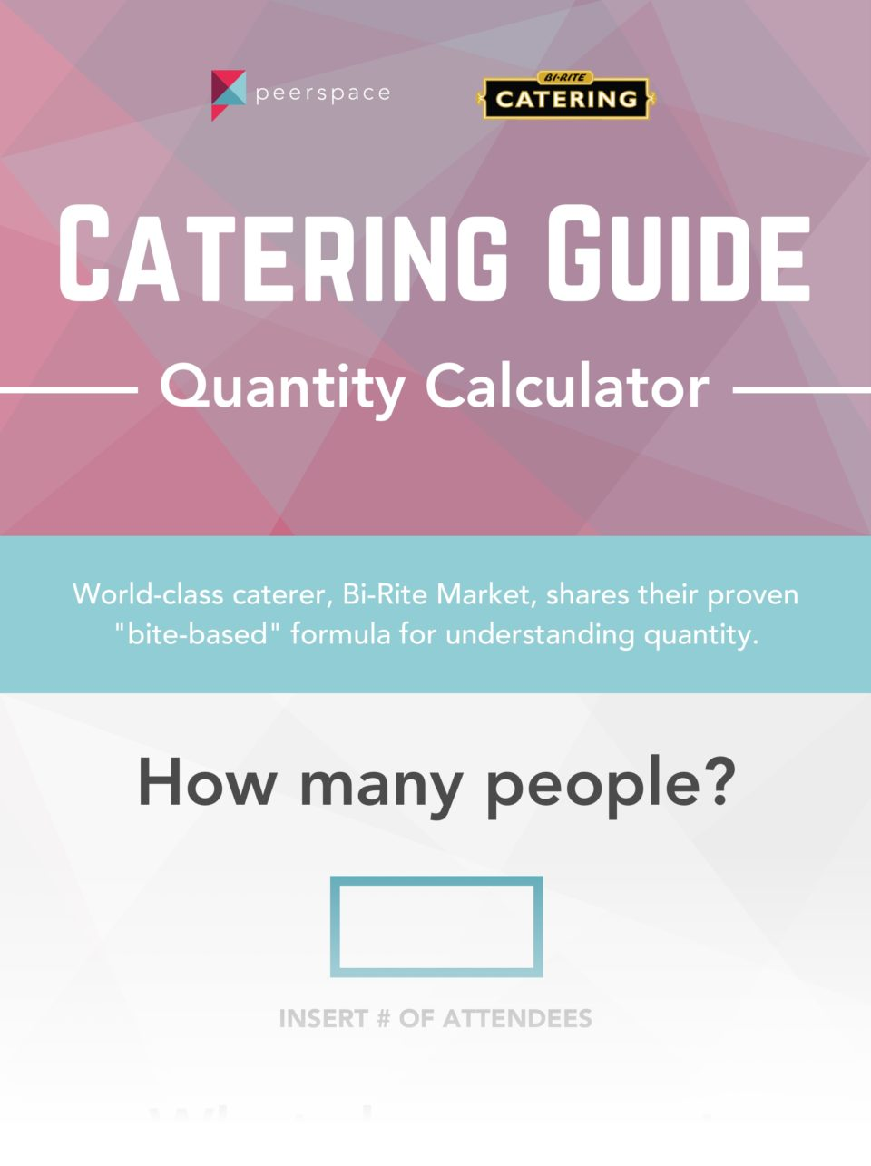 Catering Menu Ideas - Quantity Calculator