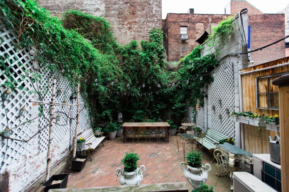 Private Garden In The West Village, New York City