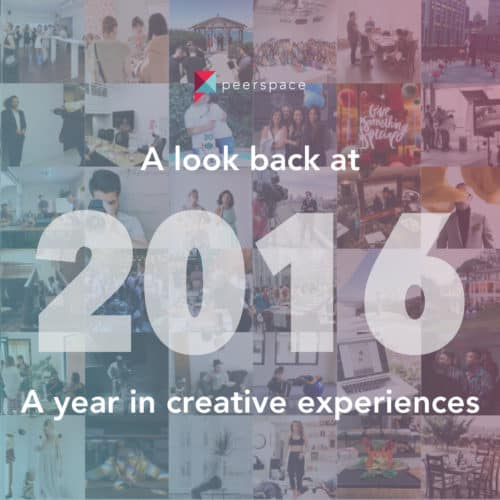 A Look Back at 2016 Before We Charge Forward | Peerspace