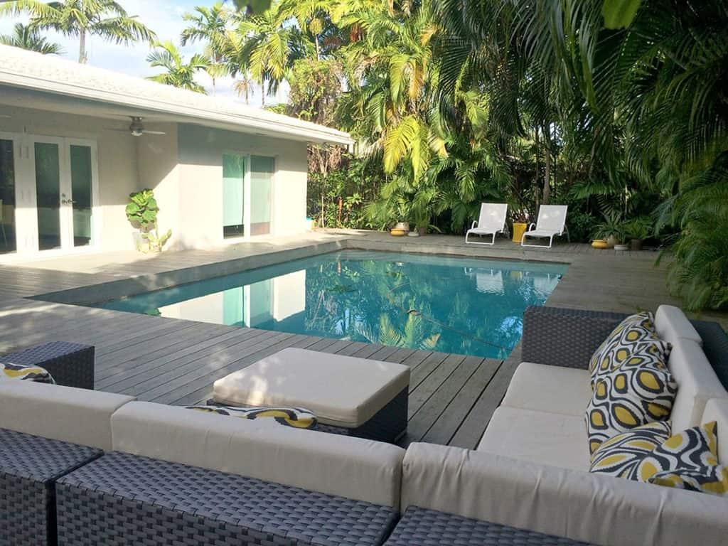 mid century house with pool miami rental