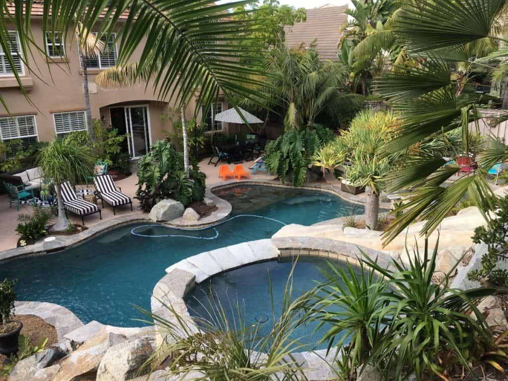 bright home with tropical backyard san diego rental