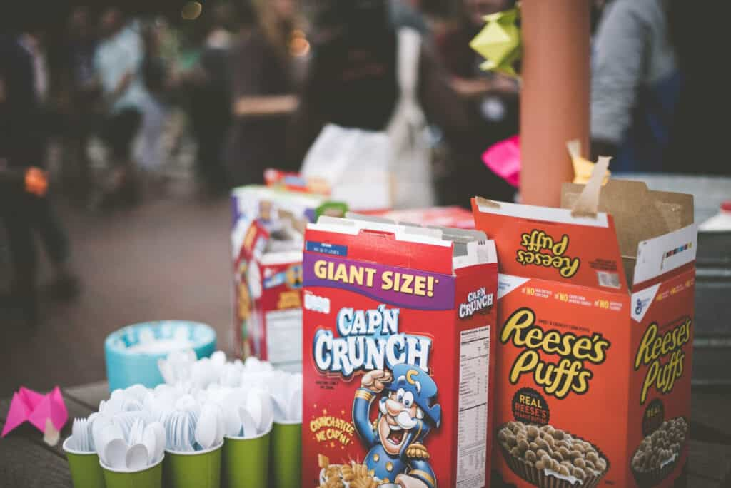 cereal birthday party food