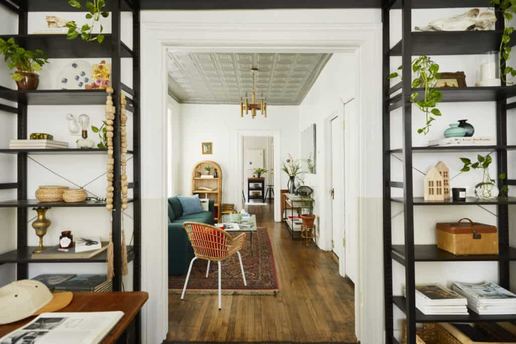 Airy Vintage Apartment Curated by a Prop Stylist chicago rental