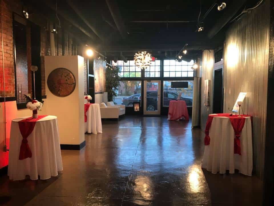 Beautiful Exposed brick wall Event Space louisville rental