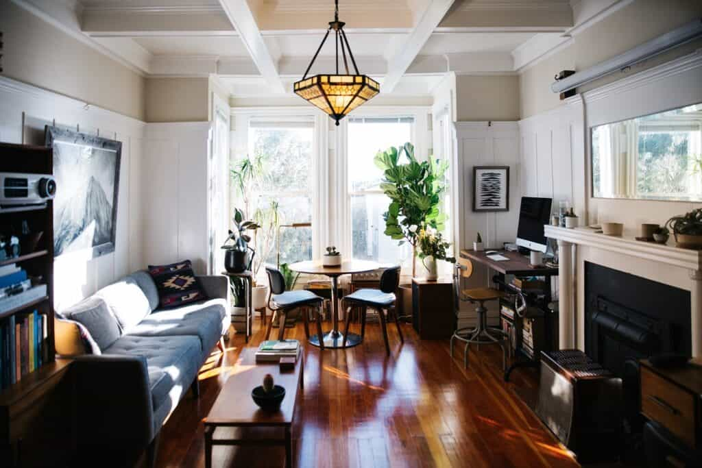 Beautiful and Bright Edwardian Flat with Mid Century details san francisco rental