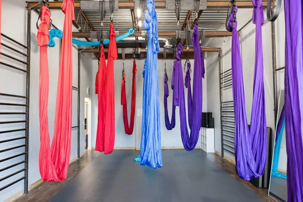 Boutique style pole and aerial fitness studio dallas rental