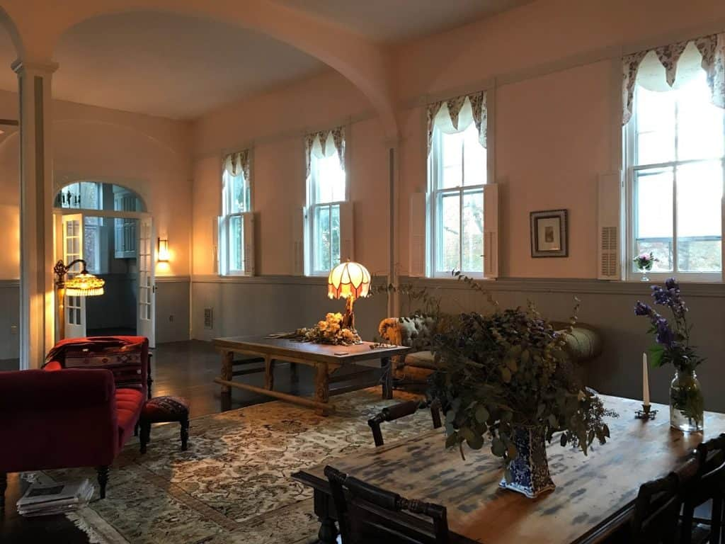 Church-like historic home with great room cathedral ceilings and stage baltimore rental