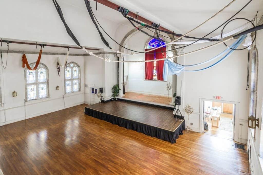 Circus Acrobats Training School Theater atlanta rental