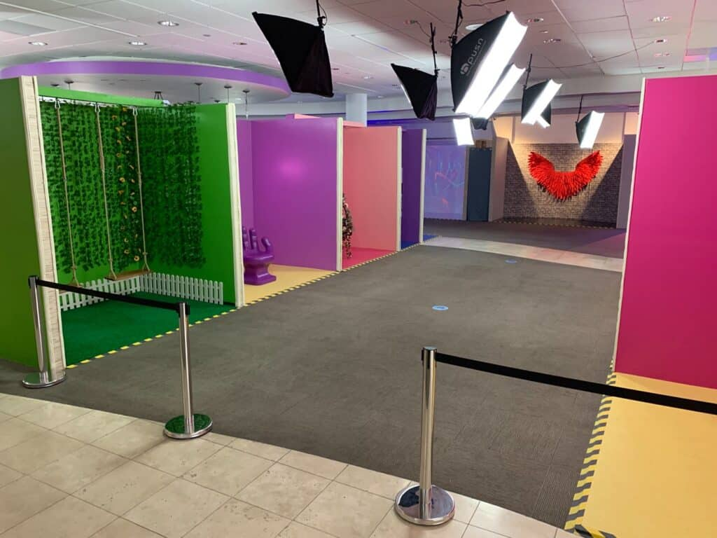 Colorful and Lively Set with Different Backgrounds best for Social Media Content austin rental