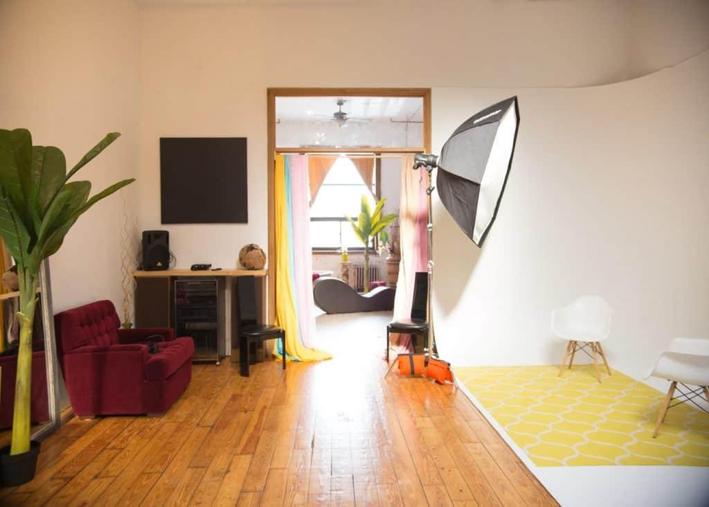 Creative Prop Room & Cyc Wall in Beautiful Loft Space new york city nyc rental