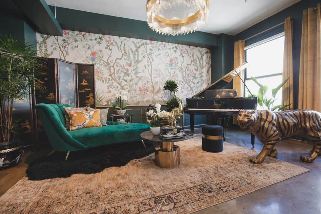 Downtown Sun Drenched Luxury Unique Jungle Studio with Piano los angeles rental