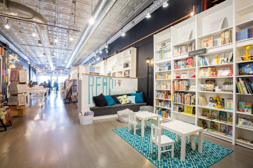 Eclectic Bookstore Cafe chicago rental