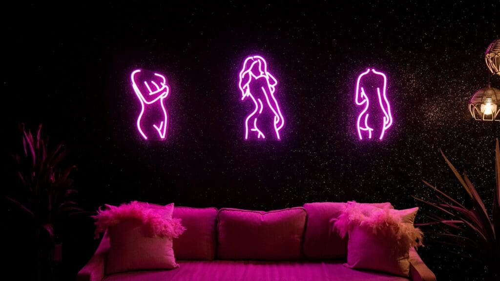 Glamorous, Glitter-Neon Studio los angeles rental