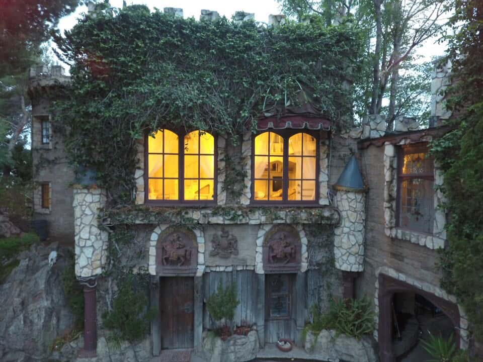 Majestic Medieval Castle high atop the Hollywood Hills los angeles rental