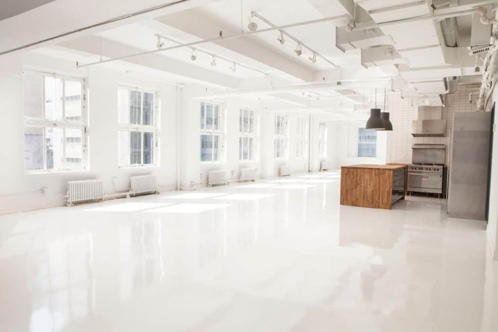 Midtown Modern White Event Space nyc new york city rental