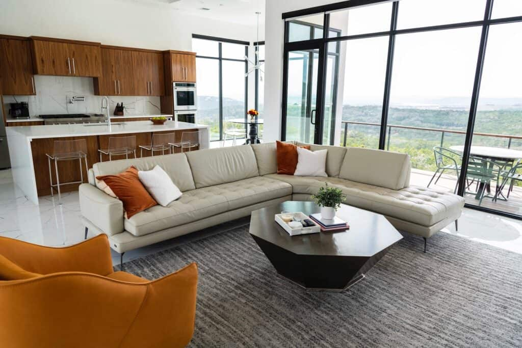 Modern House with Panoramic Hill Country and Lake Views austin rental