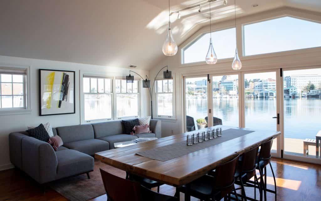Modern Waterfront House Boat seattle rental