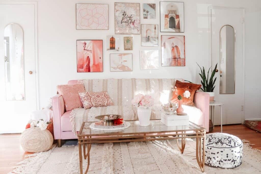 Moroccan Boho Pink Studio new york rental