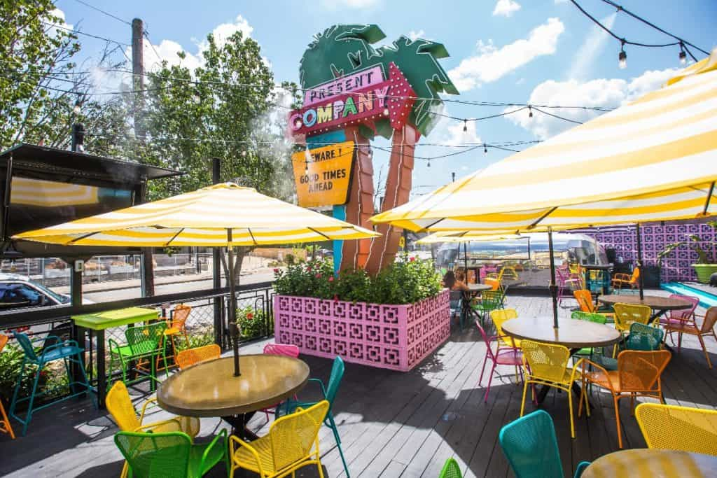 Neon Themed Patio for Small Events houston rental