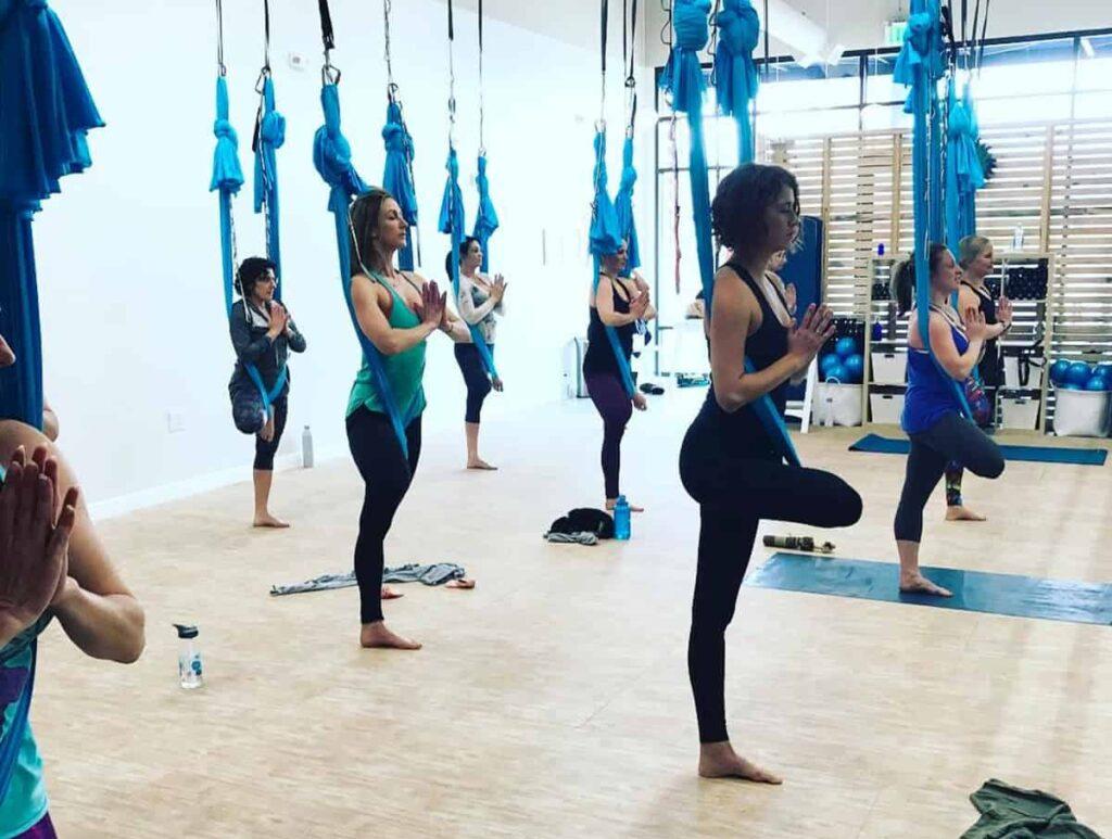 (no shoes) clean yoga fitness studio denver rental