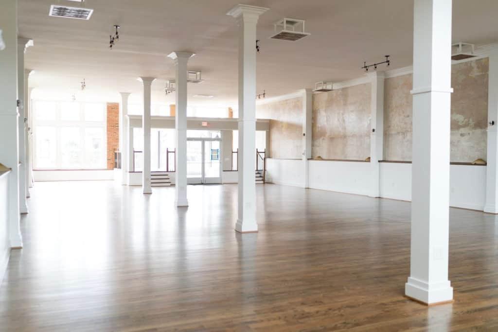 spacious dance studio event space