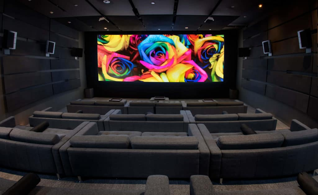 private screening room theater