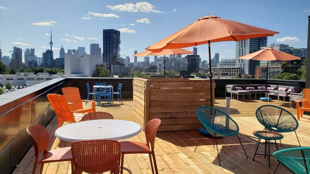 Rooftop with Skyline View toronto rental