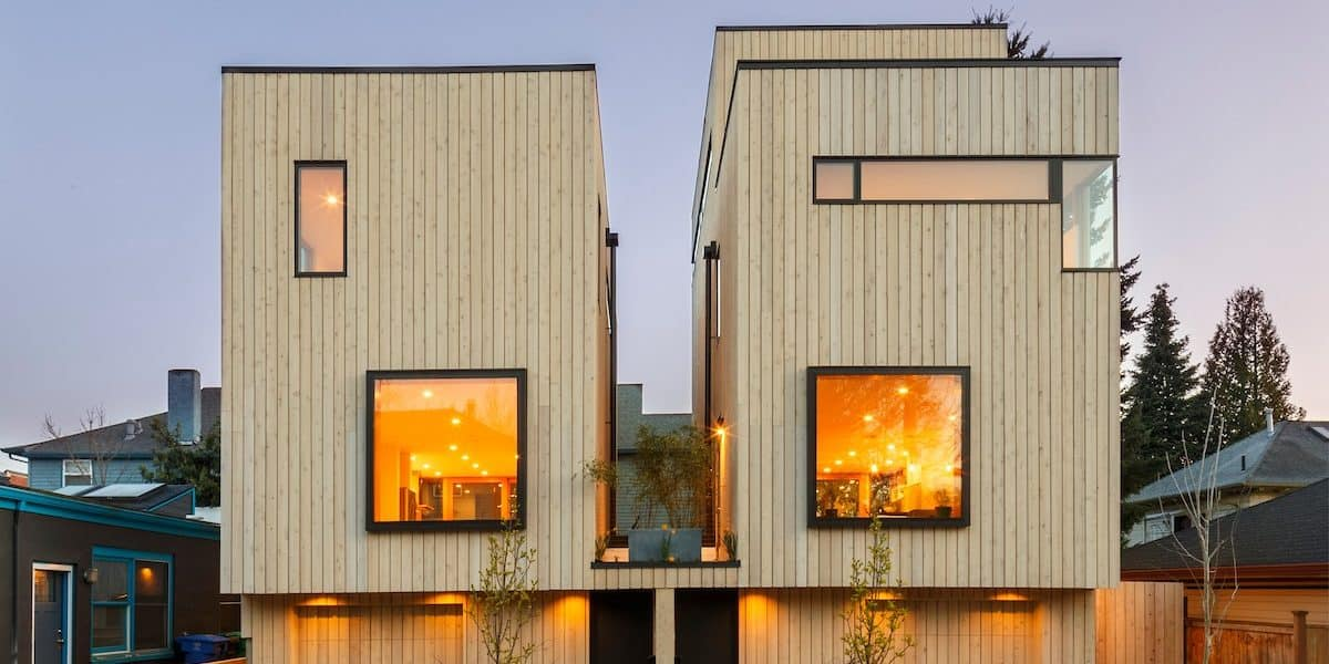 Scandinavian modern home, with great views of downtown and west hills portland rental