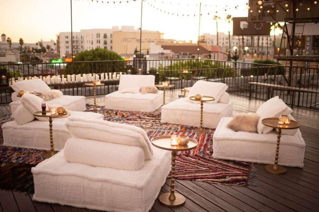 Secret Rooftop on Hollywood Boulevard los angeles rental