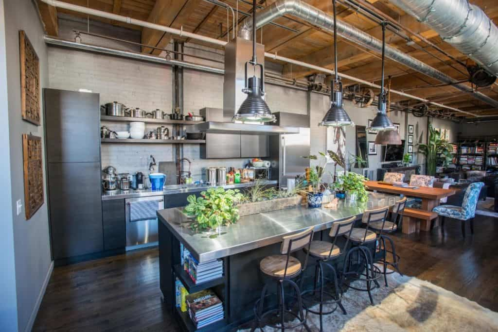 Spring Factory turned Open-Concept Loft chicago rental