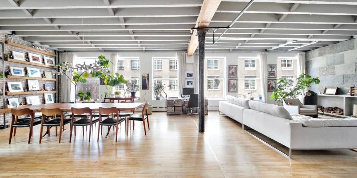 Sun Drenched Meticulously Designed Lower East Side Loft nyc new york city rental