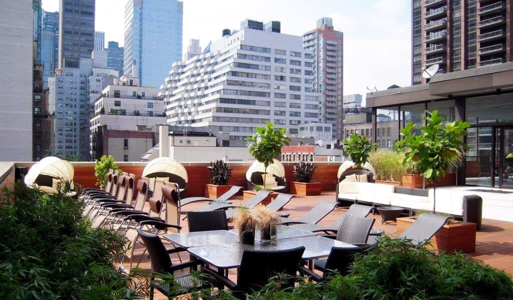 Sunny And Private Rooftop Sundeck In The Heart Of Midtown East nyc rental