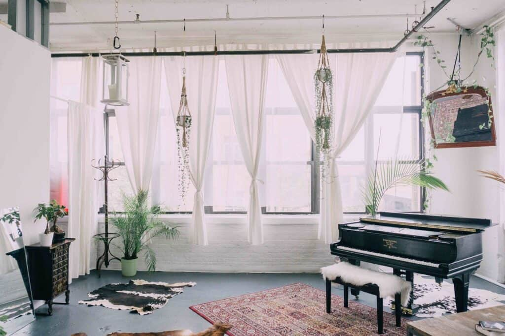 Sunny Spacious Piano and Plant Filled Brooklyn Loft nyc rental
