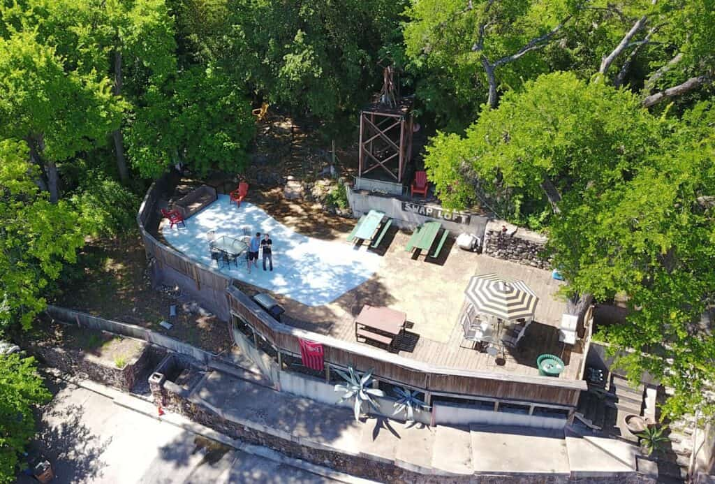 The ONLY patio overlooking Barton Springs Road austin rental