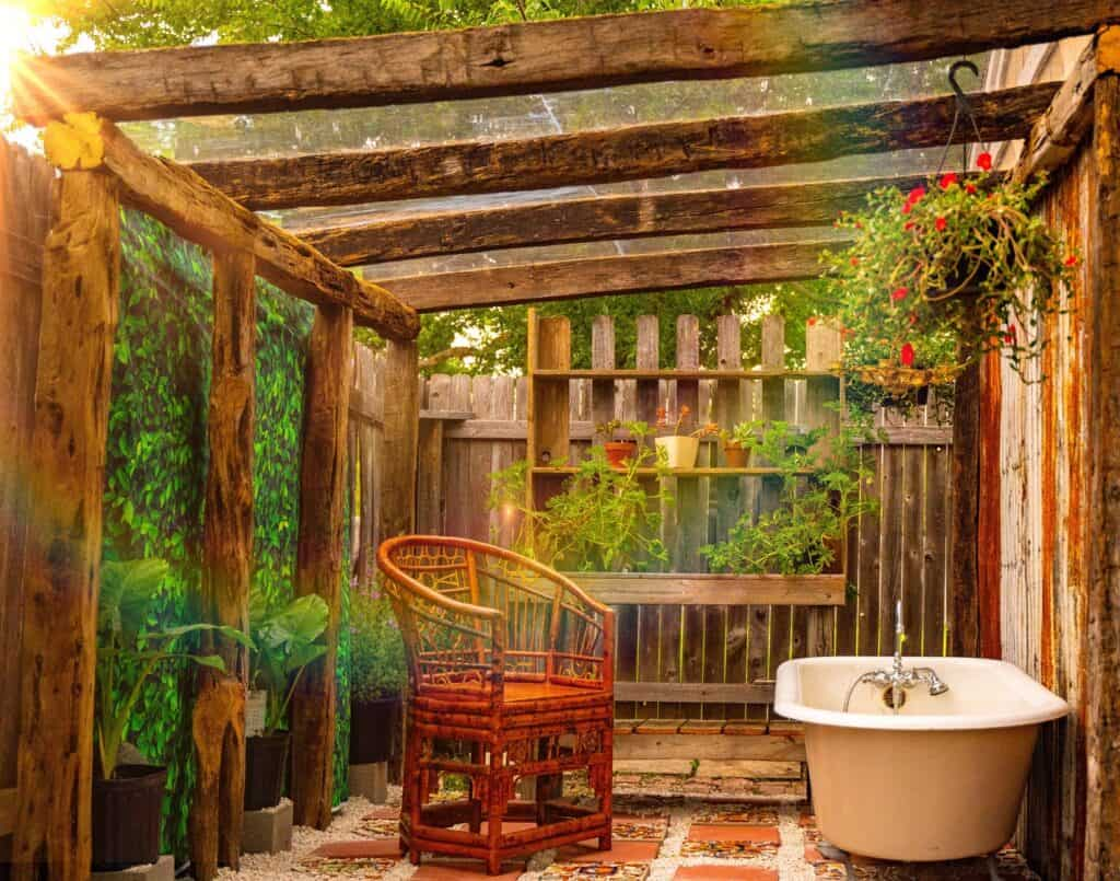 The Rustic Charmed Gardens Greenhouse with Natural Light austin rental