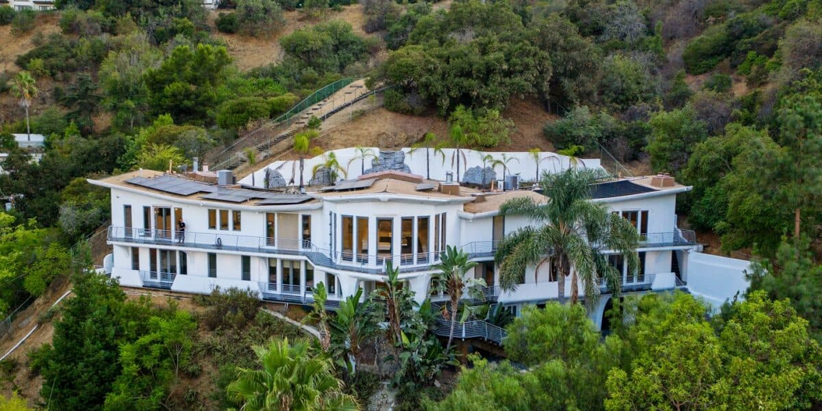 The Wings Mega Mansion In The Hollywood hills los angeles rental