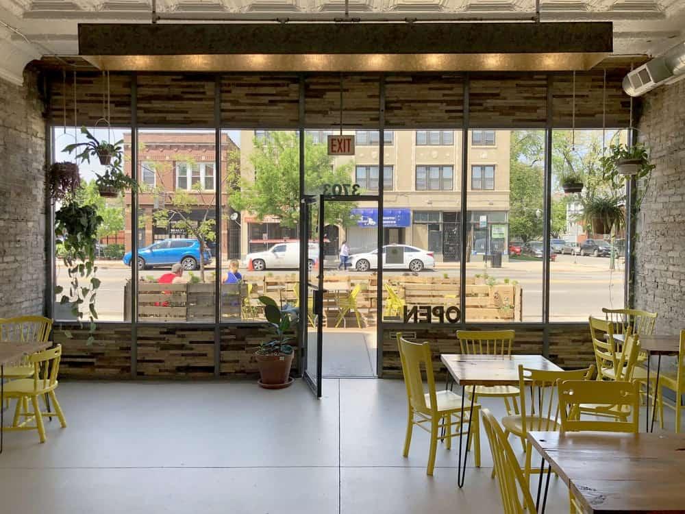 West Logan Restaurant with Rustic Garden chicago rental