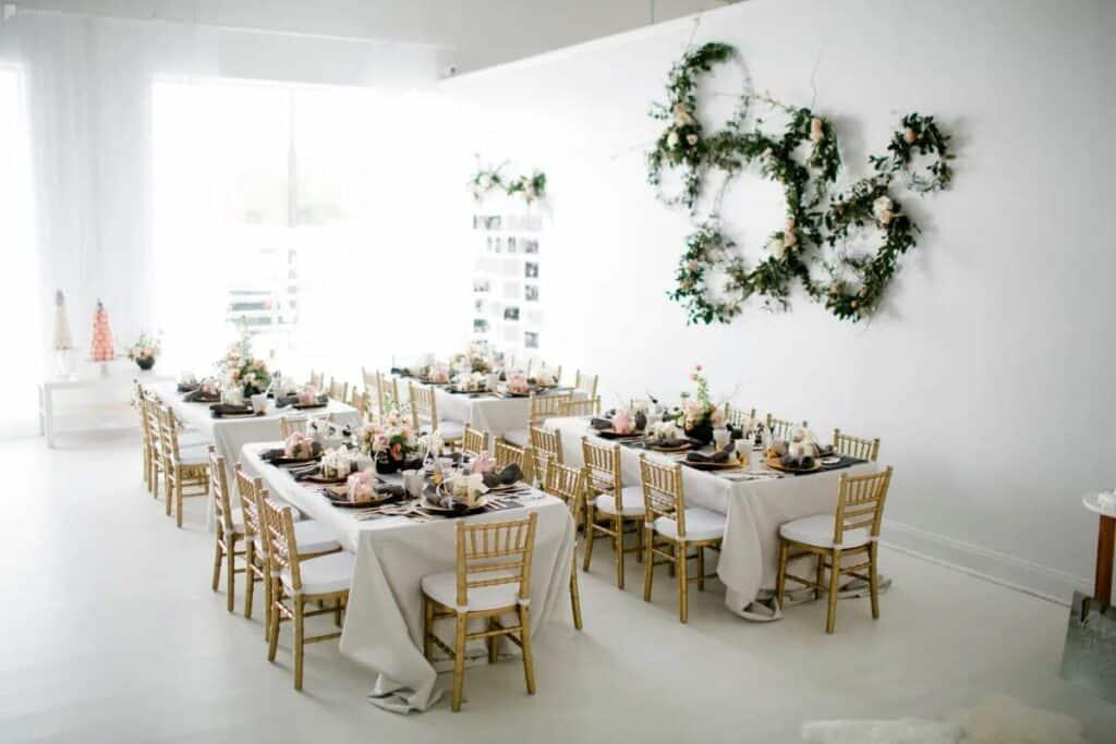 white studio and event space in buckhead
