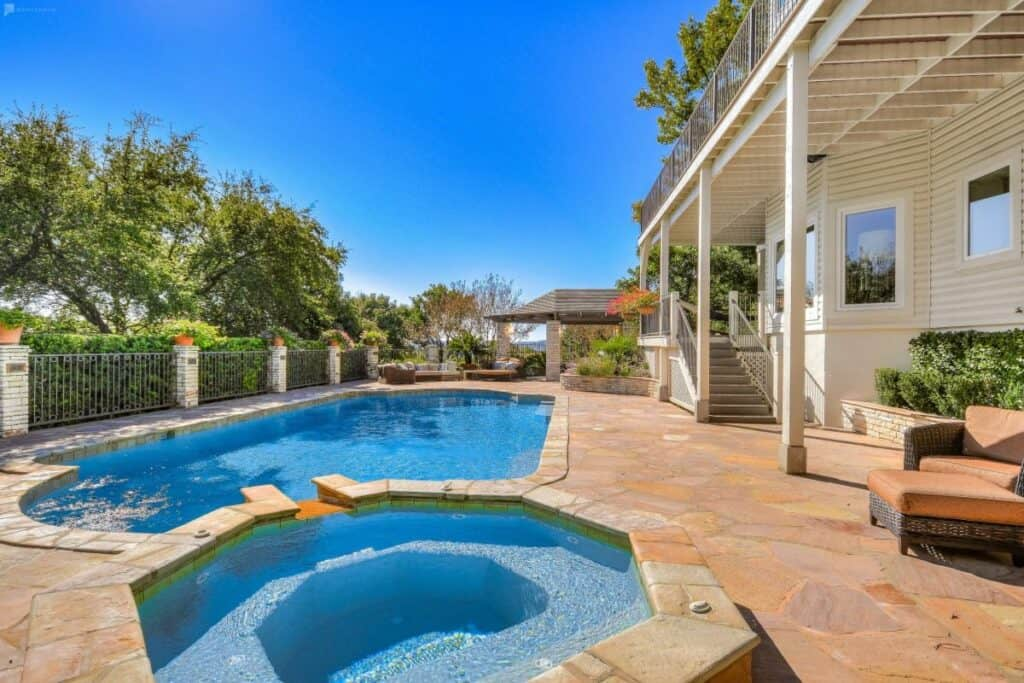 gorgeous home with pool and views
