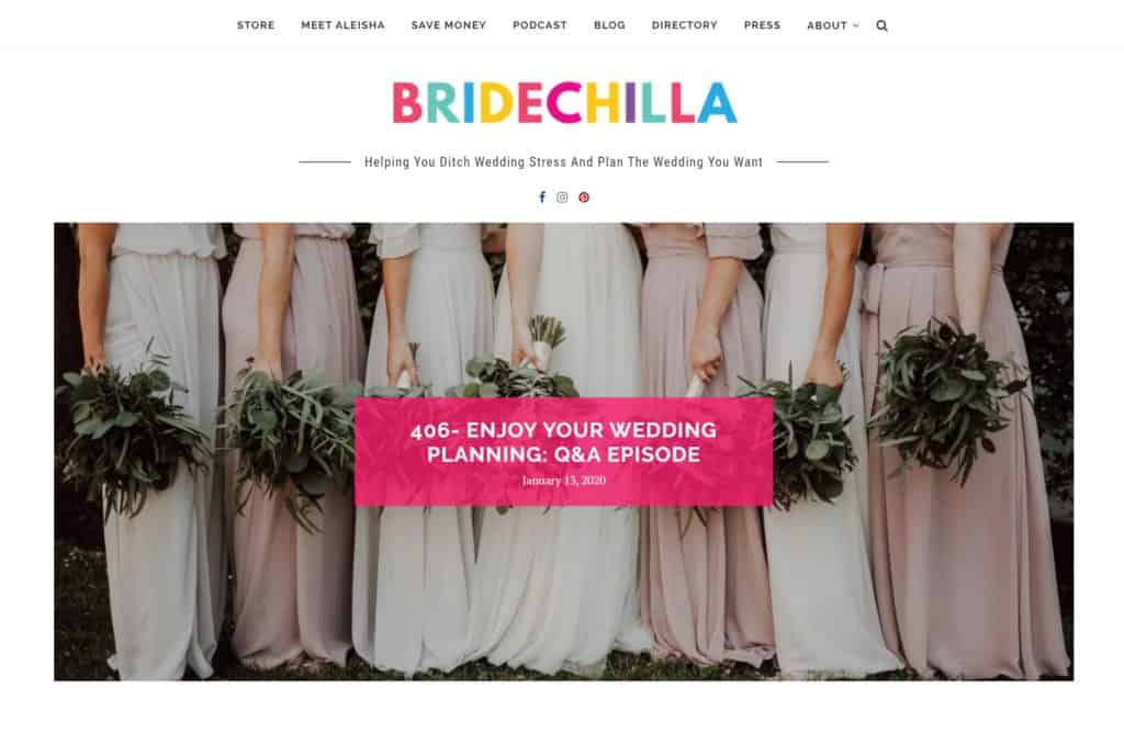 bridechilla homepage