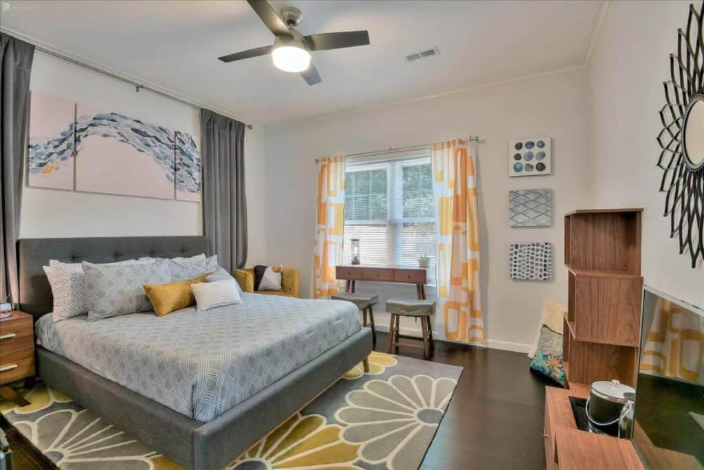 Luxury bedroom in a Charlotte photo shoot rental location