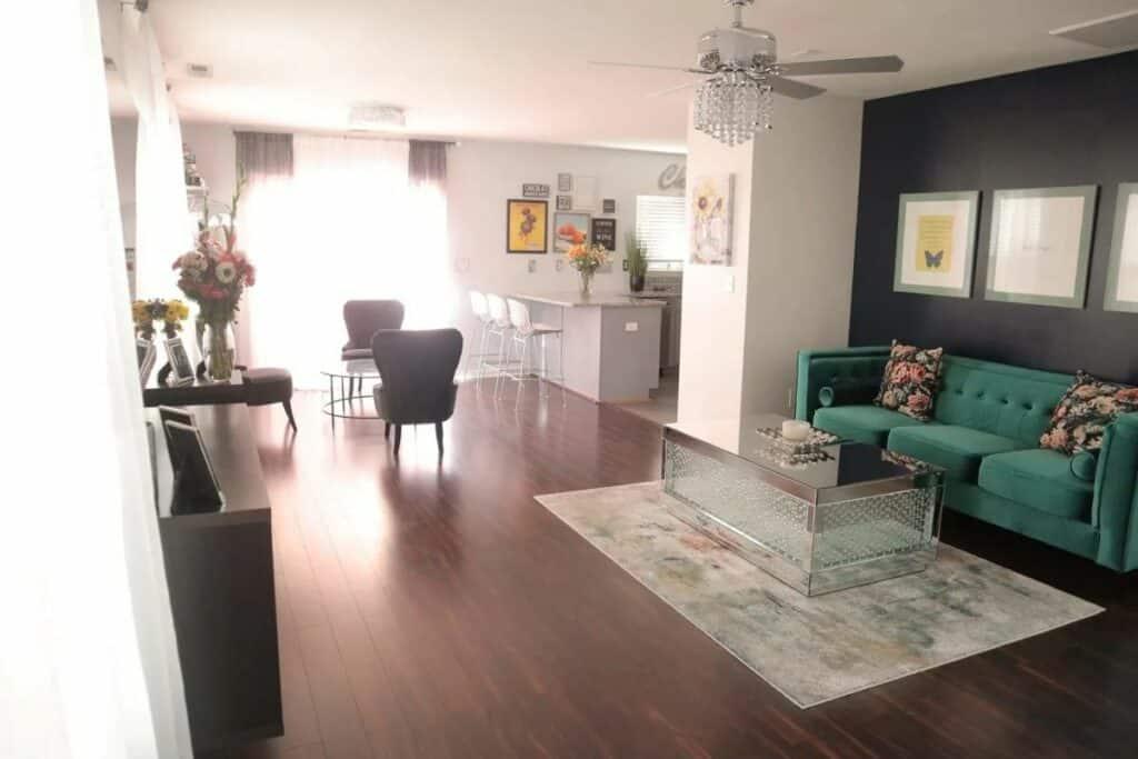 glam charming modern home