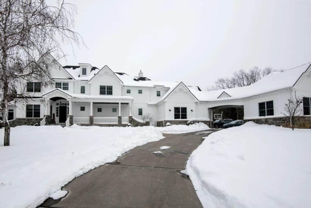 massive farmhouse mansion